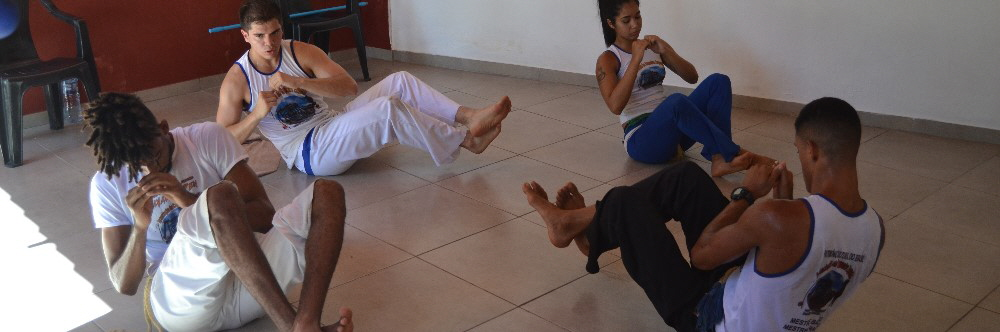 Capoeira Camp Salvador Bahia Brazil warm up